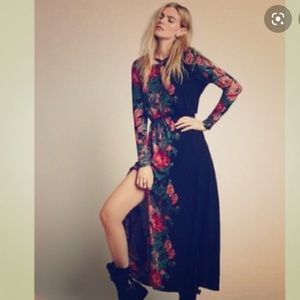 Free People Long Sleeve Maxi floral dress